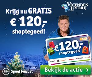 Krijg € 120,- shoptegoed en maak kans op € 2.000.000,-