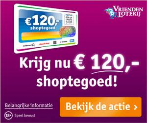 Krijg € 120,- shoptegoed en maak kans op € 1.000.000,-