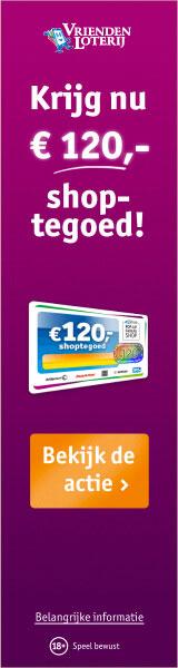 VriendenLoterij 120 euro shoptegoed