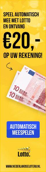 Lotto 20 euro op je rekening