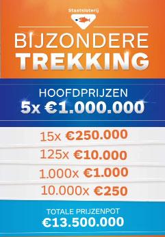 Gratis loten Staatsloterij Bijzonder Trekking + 40 euro ter compensatie