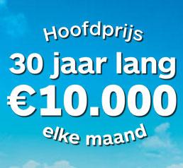 1 Juli trekking Staatsloterij, 30 jaar € 10.000 per maand