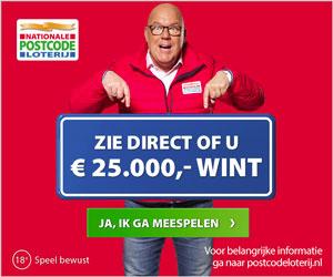 Elke werkdag kans op € 25.000,-