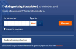 Staatsloterij loten checken 10 oktober