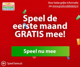 postcode loterij eerste maand gratis