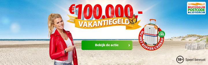 postcode loterij vakantiegeld