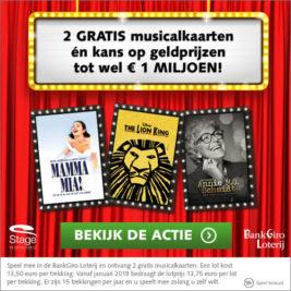 bankgiro loterij gratis 2 musical kaarten