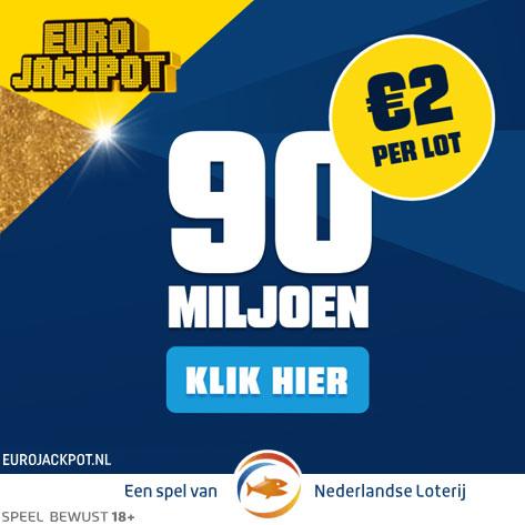 Uitslag Euro Jackpot