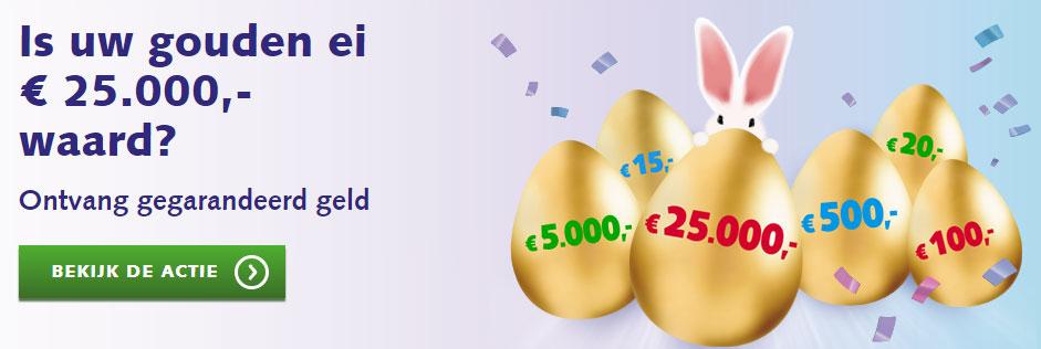 BankGiro Loterij Is jouw gouden ei 25000 waard