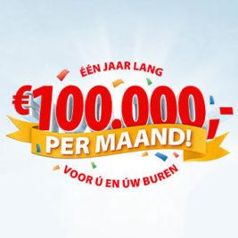 postcode loterij 1 jaar lang 100000 per maand