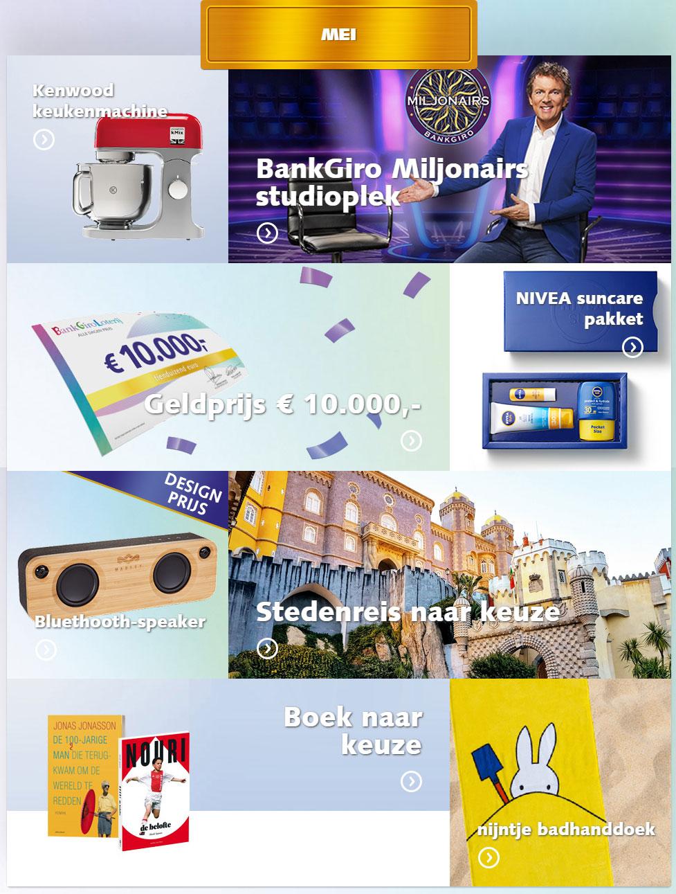 bankgiro loterij prijzen mei 2019