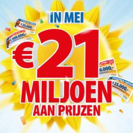 postcode loterij mei € 21 miljoen aan prijzen