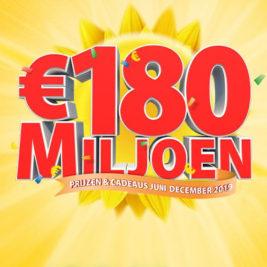 180 miljoen postcode loterij