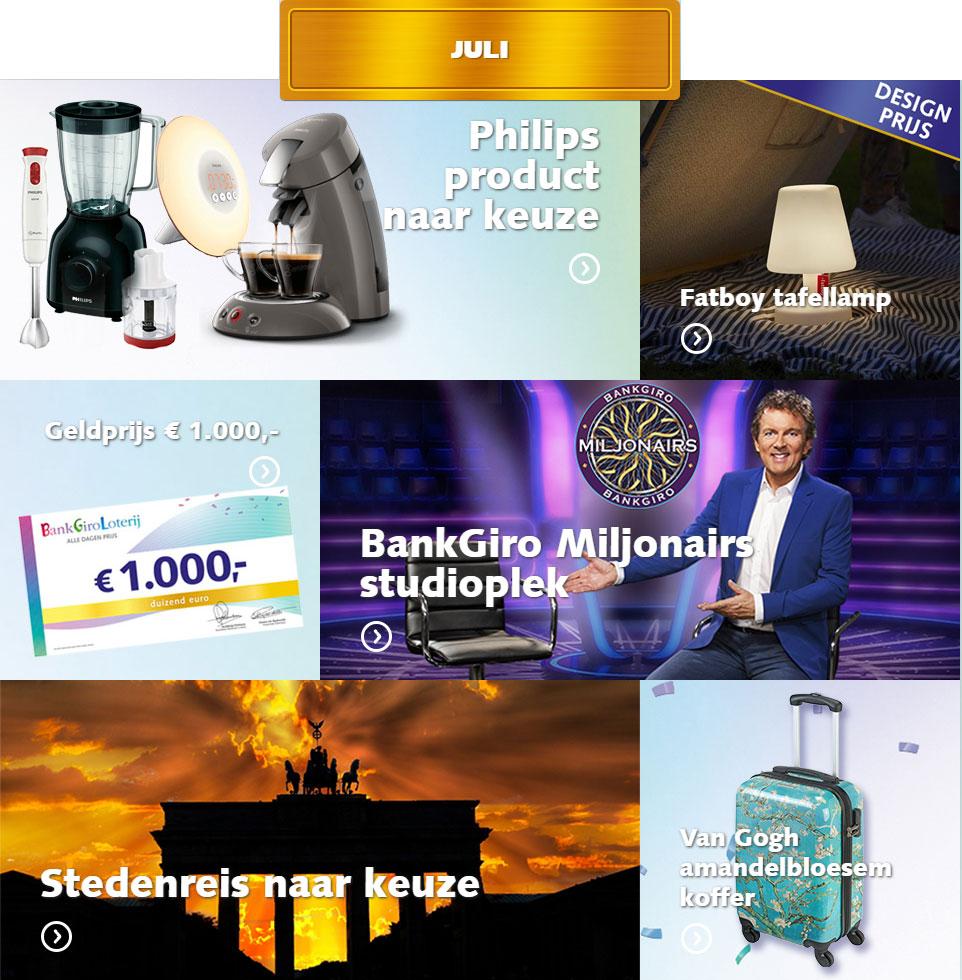 bankgiro loterij prijzen juli 2019