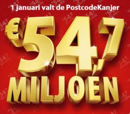 PostcodeLoterij Postcodekanjer 54,7 miljoen