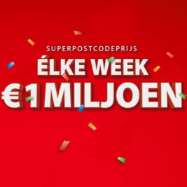 elke week 1 miljoen postcode loterij