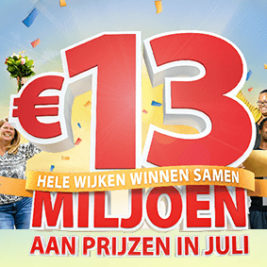 postcode loterij 13 miljoen