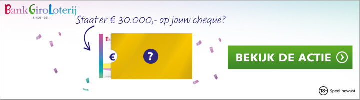 Bankgiro Loterij cheque