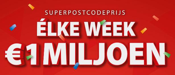 postcode loterij elke week kans op 1 miljoen