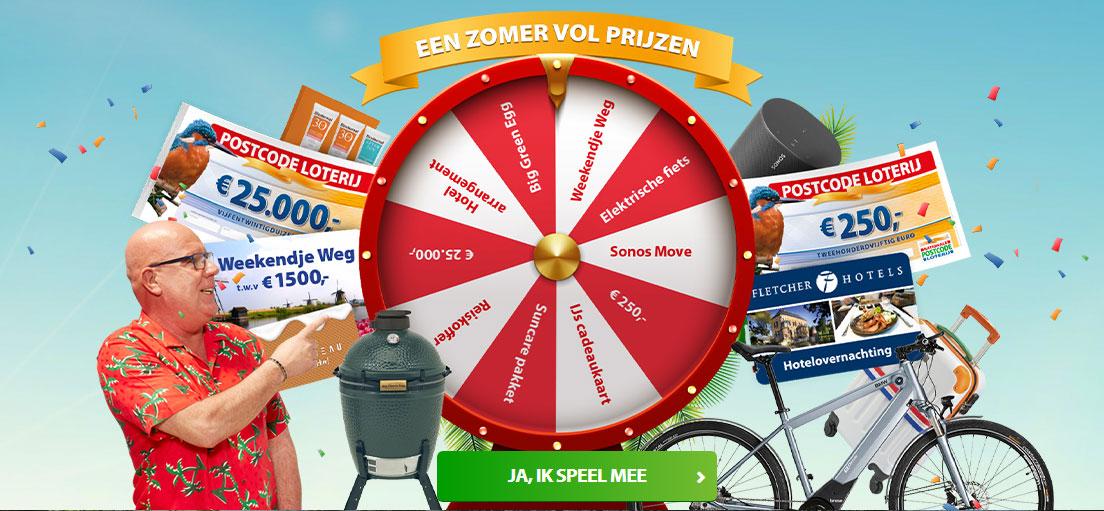postcode loterij zomer vol prijzen actie
